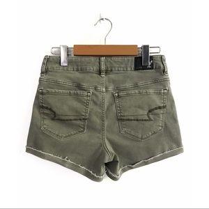 AEO Hi-Rise Shortie Stretch Jean Shorts 4 Green